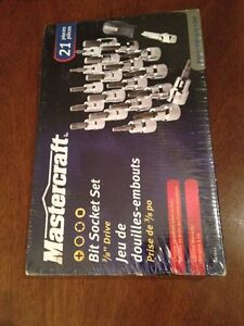 Bit Socket Set 21pc NEW Cambridge Kitchener Area image 1