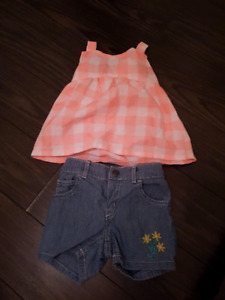 12 month summer outfit Carter's