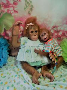 singe bébé reborn poupée de collection poupée réalisme