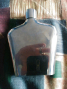 Crown royal silver plated flask