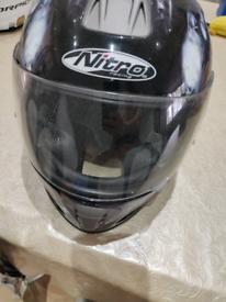 NITRO MOTORCYCLE KIDS HELMET. XS. 54CM