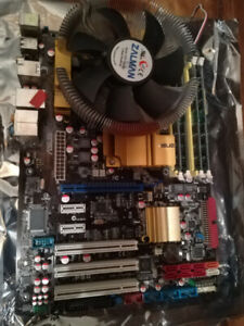 2 CPU +2 Motherboard combo + heatsink