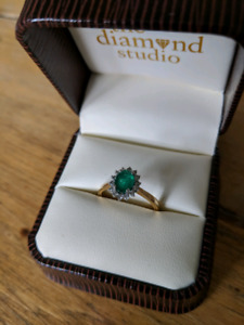 New Emerald Diamond Ring
