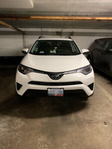 2018 Rav4 LE AWD, Clean car-Lease takeover with 0% interest