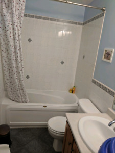 One year old bathtub for your renovation-avail 1st week of Nov