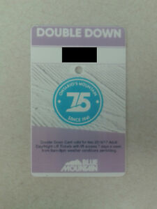 Blue Mountain Double Down - 2 full day passes