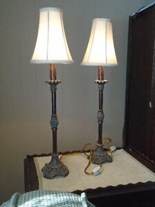 Matched Set Pedestal style table lamps London Ontario image 1
