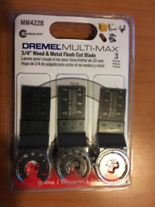 "DREMEL MM422B BULK PACK 3/4"" WOOD & METAL FLUSH CUT BLADE"