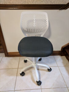 Office Chair, white/grey