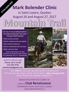 Mark Bolender Mountain Trail Clinic in St. Lazare