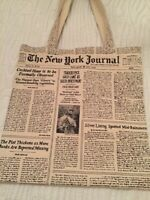 Sac Kate Spade authentique motif journal New York