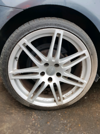 """19"""" inch alloy wheels rim with tyre audi A3 vw golf seat leon"""