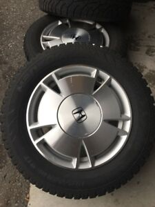 ** Set of 4 HANKOOK Winter Used Tire 85% tread left **Alloy Rim.