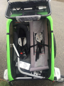 thule double with stroller wheels and bike attachment