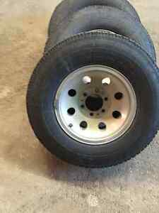 """Chev 6 bolt 15"""" rims and tires"""