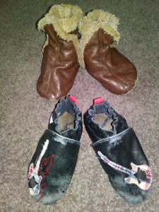 Robeez 18-24 month shoes and booties $10 shoes $15 booties
