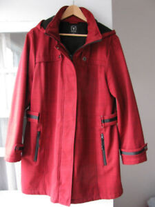 Impermeable 3/4 rouge double - Spring Coat lined size 14W