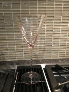 4 pink Mikasa martini glasses - BNIB