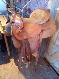 three saddles for sale