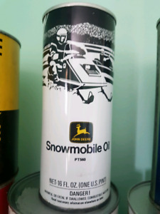Vintage snowmobile oil can full!!