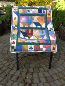 Quilted crib cover