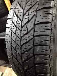 Set of 4 Goodyear  winter tires 205/55/16
