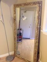Gold mirror for sale: pickup only