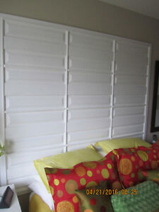 Need a change?   Classic Snow White Elegant Large Head Board.