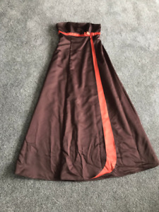 Grad dress - Brown/orange -Size 14
