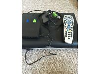 Sky +HD box, remote and wireless connector