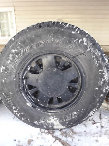 (4)  GM 15'' Alloy Rims with 235/75/15 Tires