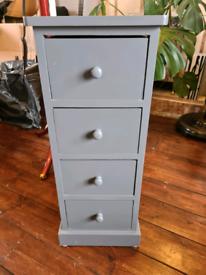 4 drawer wooden storage unit £15