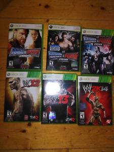 6 wrestling games for $30