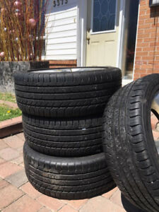 225/45/17 Good Year Tires on Mazda Wheels for sale for $450