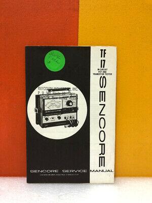 Sencore 747 Tf17 In-circuit Fet Transistor Tester Service Manual
