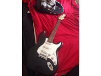 Electric guitar rockstar