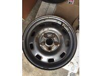 "VW Volkswagen transporter early T4 15"" steel wheels. Ideal for banding."