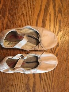Pink Leather Ballet Slippers -For kids