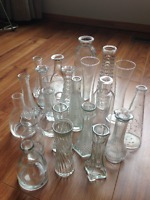 22 glass vases