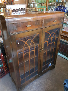 VINTAGE CHINA CABINET W DRAWERS