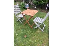 SMALL WOODEN BISTRO SET FOLDABLE