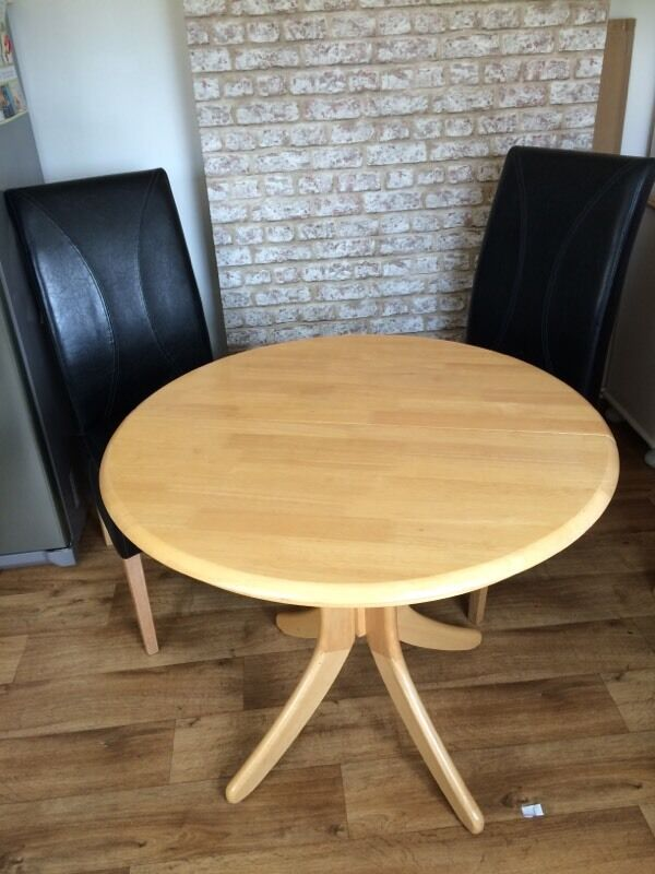 Ikea extending round dining table in staveley derbyshire gumtree - Ikea round extendable table ...