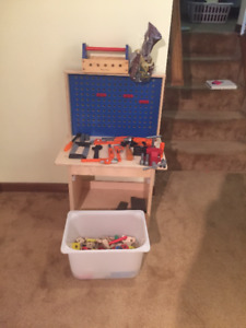Ikea Toy Work Bench + Tools