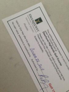 GOLF PASSES to incredible Deerhurst Resort
