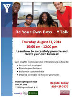 Be Your Own Boss: Self-Employment Workshop