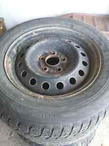 215/65R16 Rims with Blizzack tires London Ontario image 1