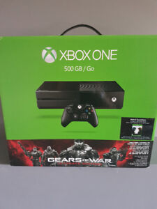 Never used Xbox one with gears of war and halo