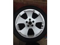 5x112 Audi A3 alloy wheels +spare wheel