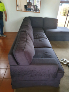Couch old has some damage
