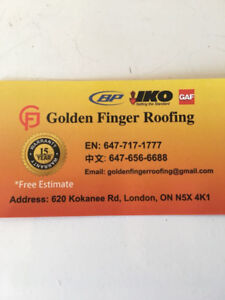 needs a new roof? Golden Finger Roofing